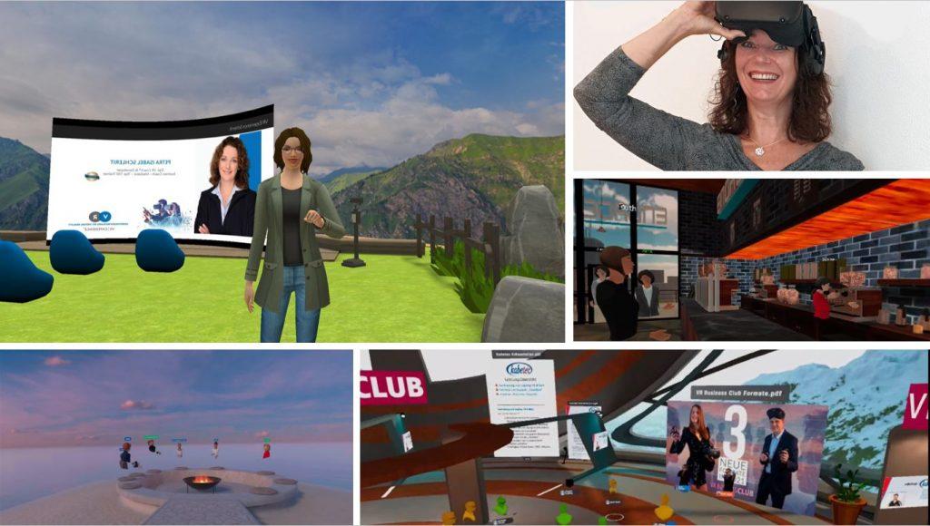 Petra Isabel Schlerit arbeitet auf den VR-Plattformen Manova World, Arthur, Engage und Glue
